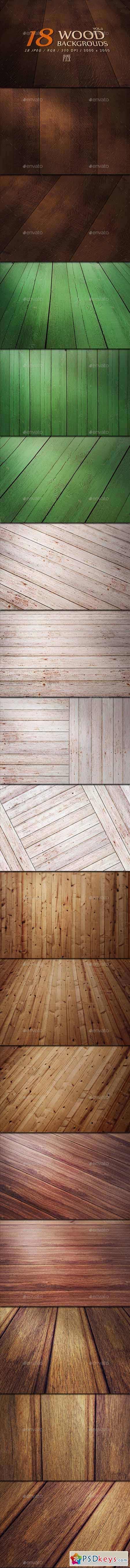 18 Wood Backgrounds - VOL.2 13240678