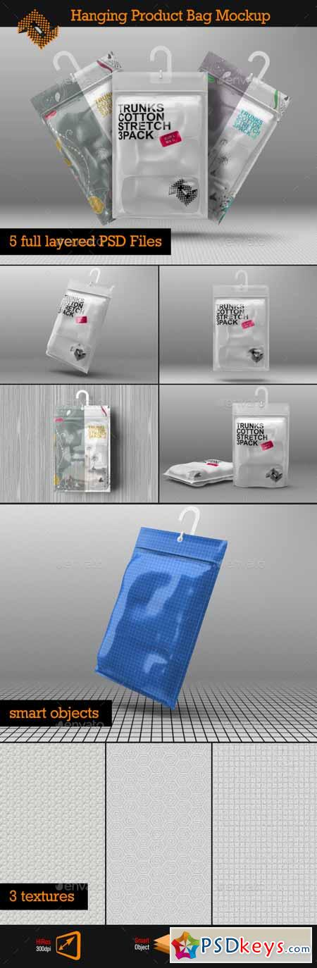Hanging Storage Product Bag Pouch Mockup 13237029