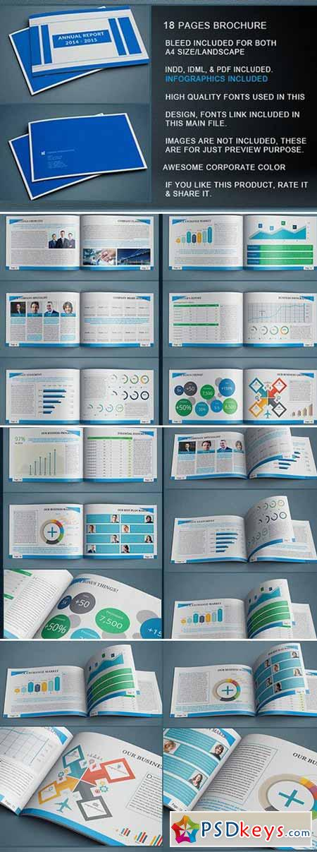 Indesign Annual Report Template   Free Download Photoshop
