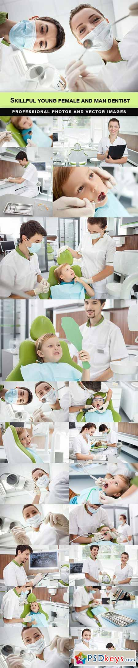 Skillful young female and man dentist - 20 UHQ JPEG