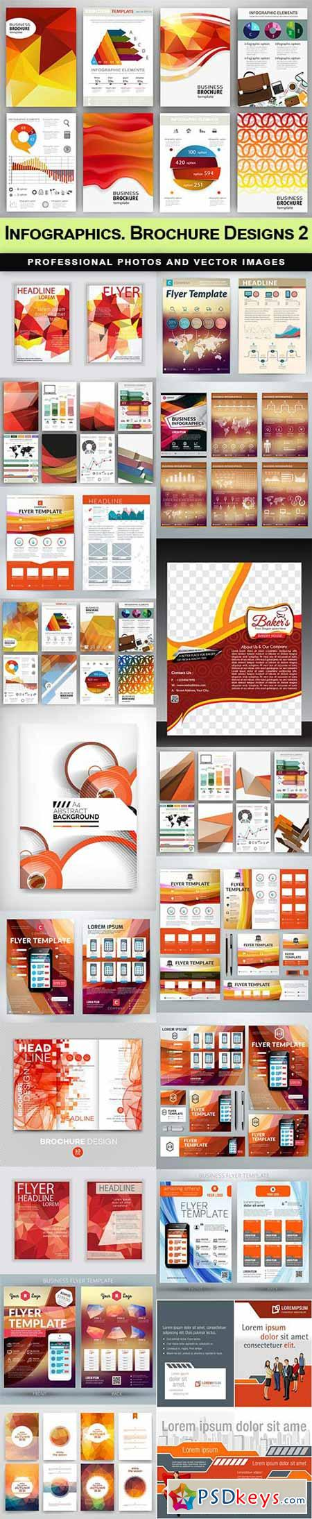 Infographics. Brochure Designs 2 - 23 EPS