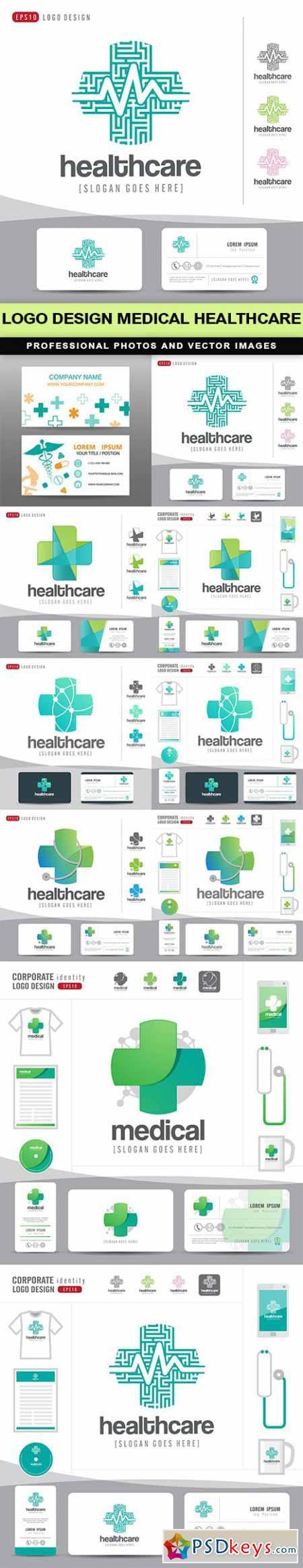 logo design medical healthcare - 10 EPS