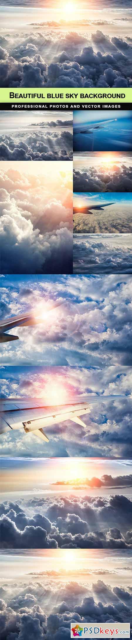 Beautiful blue sky background - 10 UHQ JPEG