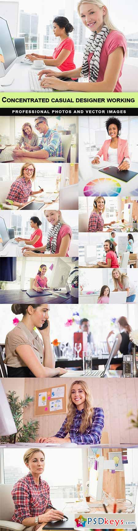 Concentrated casual designer working - 11 UHQ JPEG