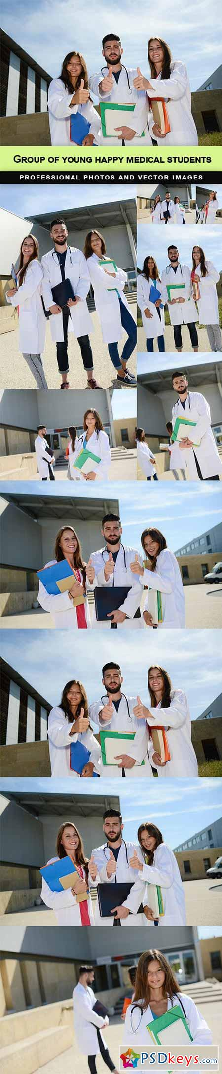 Group of young happy medical students - 10 UHQ JPEG