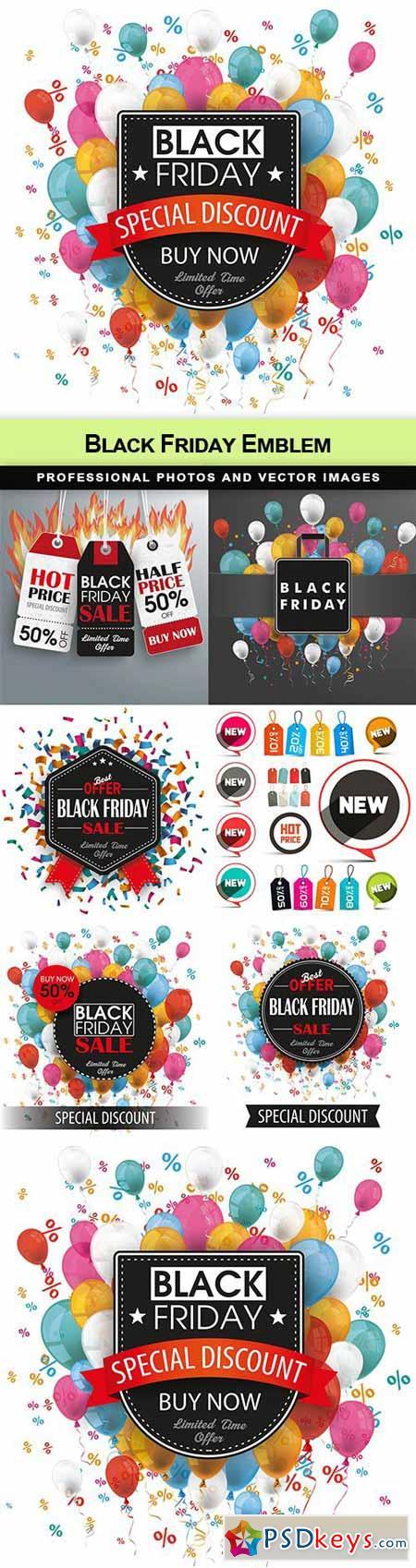 Black Friday Emblem - 7 EPS