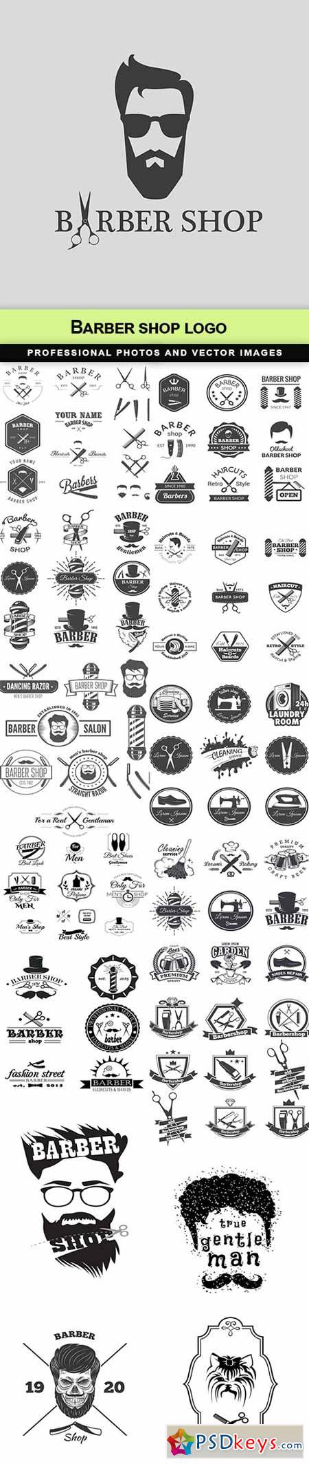 Barber shop logo - 15 EPS