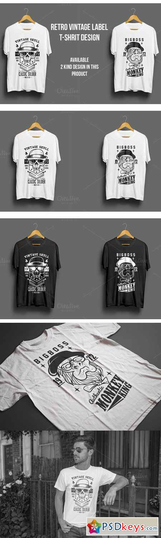 Retro Vintage Label T-Shirt Design 399610