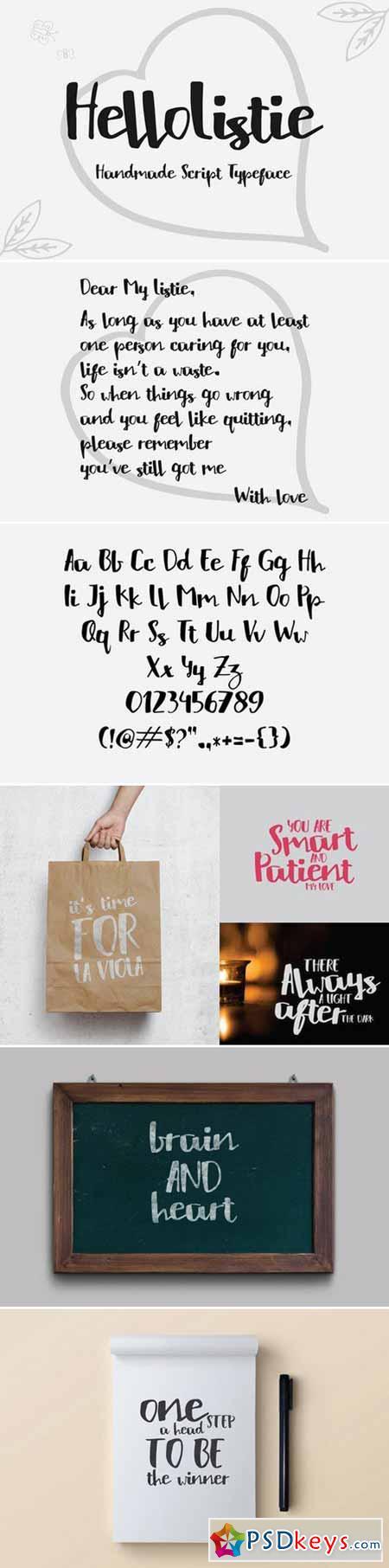 HelloListie Typeface 398384