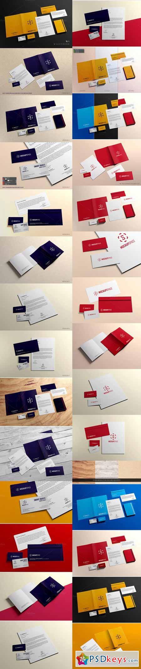Elegant Stationery Brand Mockups 398078