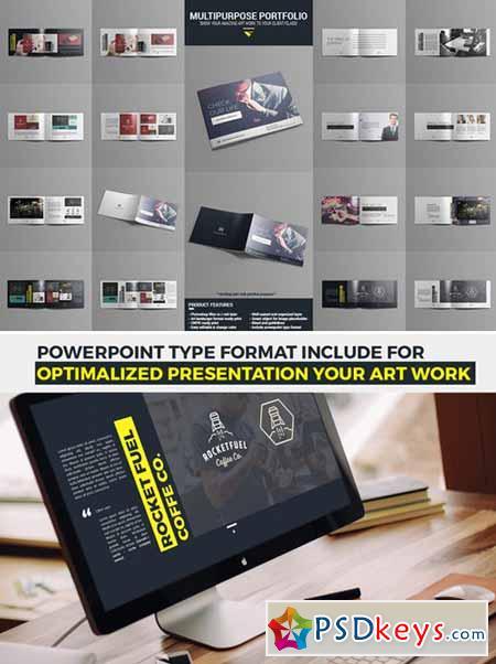 Multi Portfolio Print and Powerpoint 400623