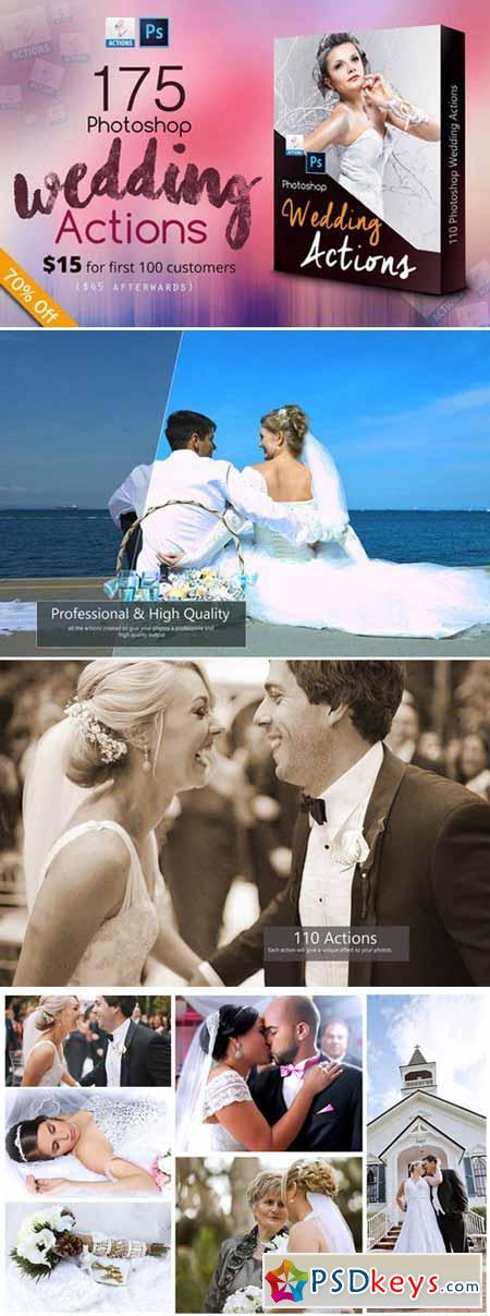 175 Photoshop Wedding Actions 400466