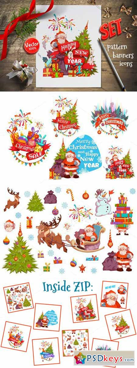 Christmas banners set 399606