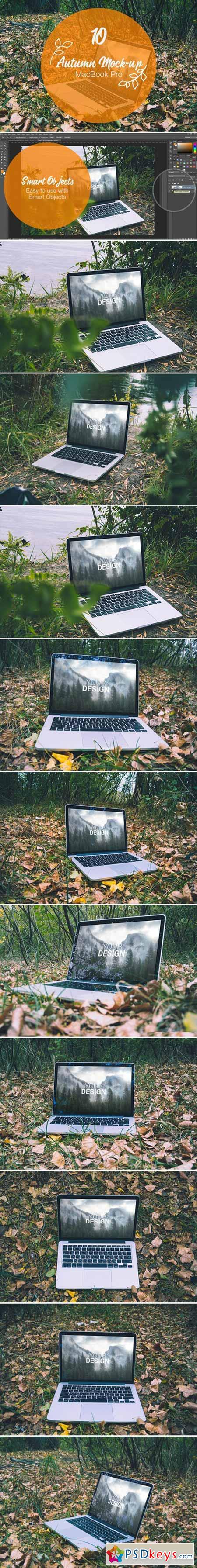 MacBook Pro Autumn mock-up 399884
