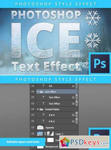 Photoshop Frozen Ice Text Effect 400625