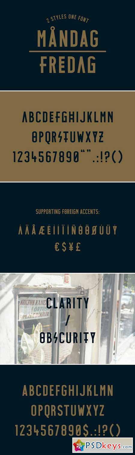 MANDAG - FREDAG Typeface 400953
