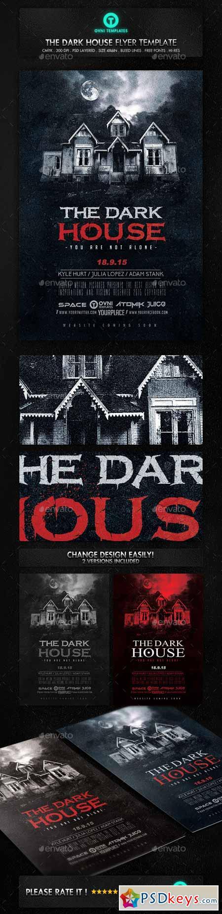 Dark Terror House Flyer Movie Poster 12935923