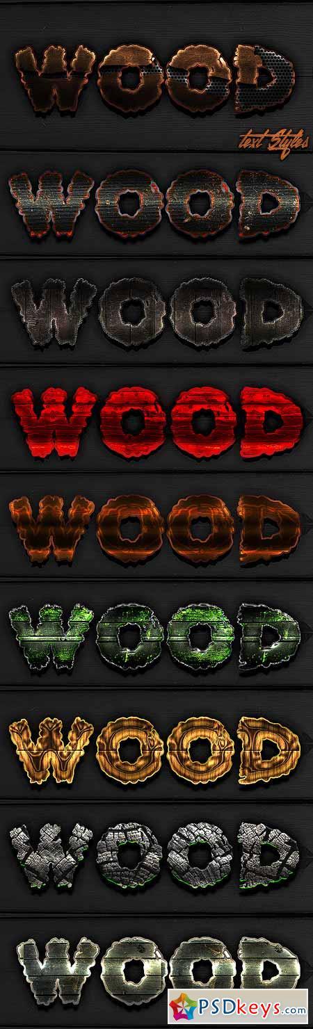 Best Wood Text Styles 13117572