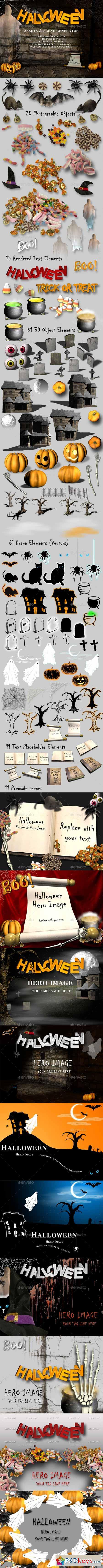 Halloween Assets and Mockup Creator 11863106