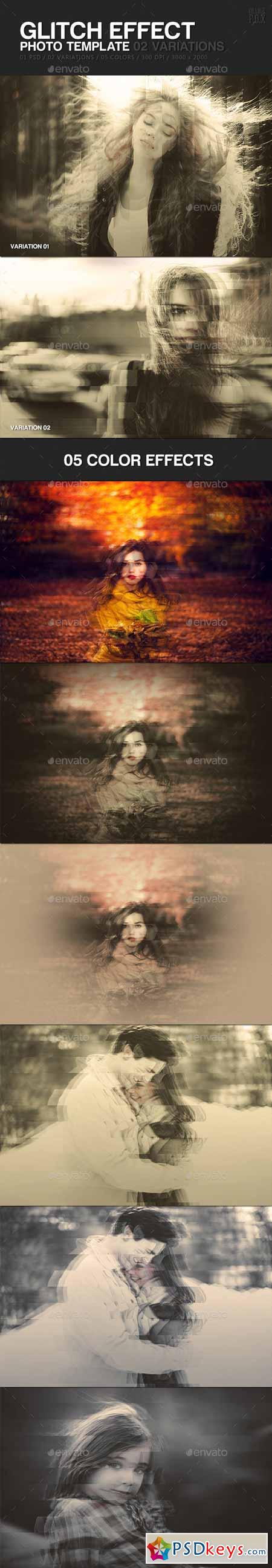 Glitch Effect Photo Template 13241037
