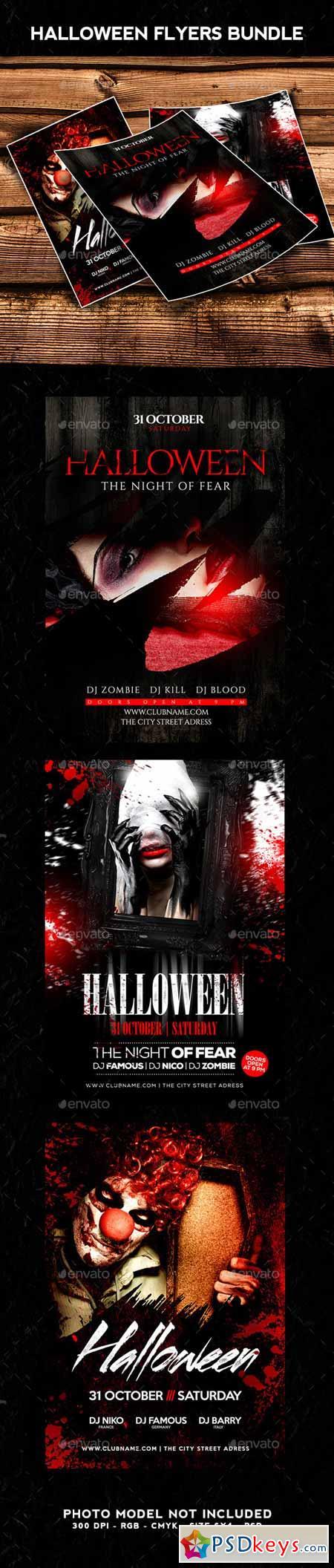 Halloween Flyer Bundle 13183768