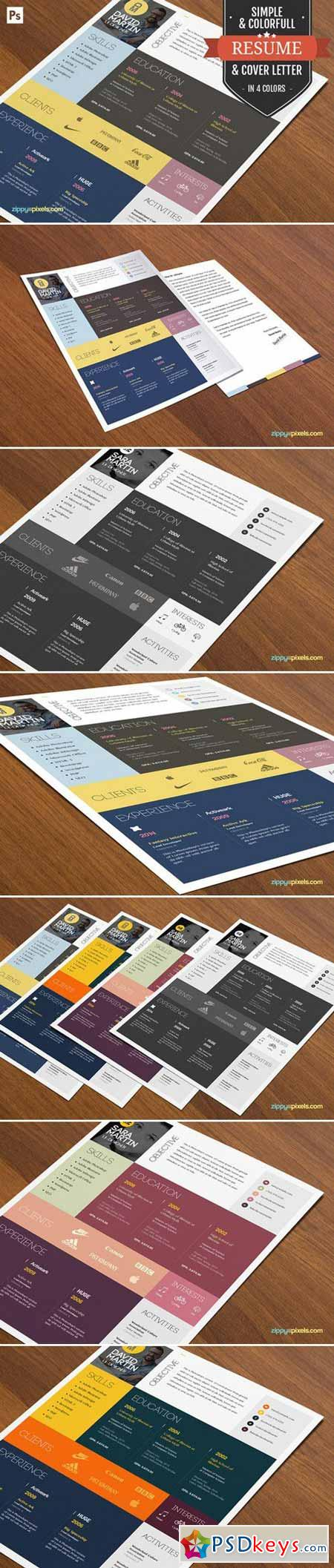 Resume Cover Letter Template Layout 394480