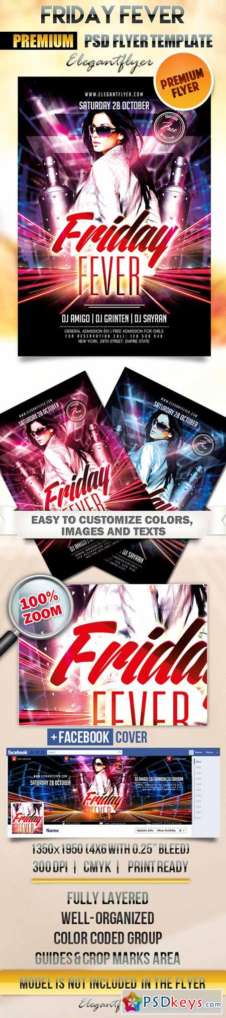 Friday Fever – Flyer PSD Template + Facebook Cover