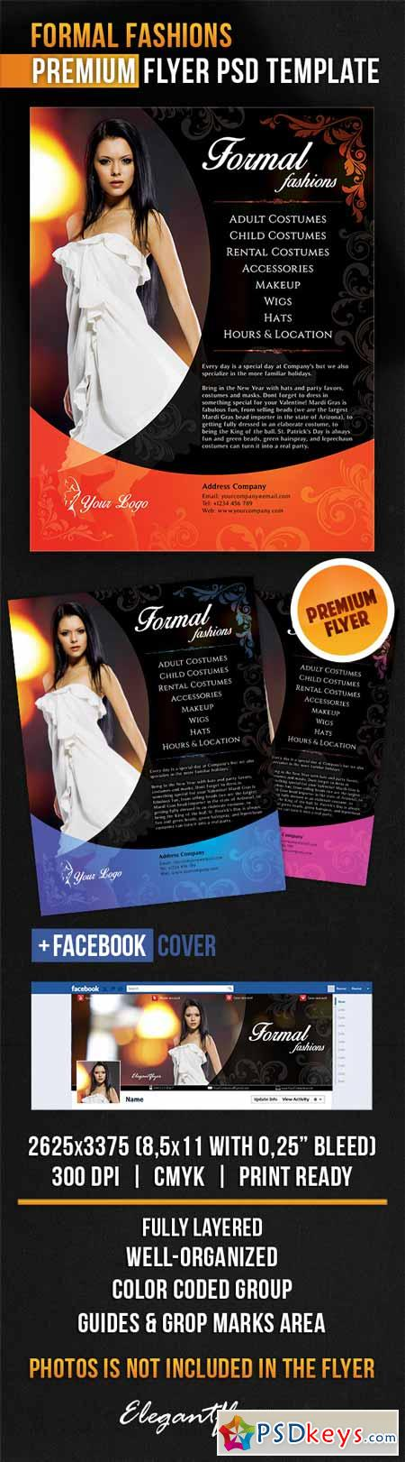 Formal Fashions – Flyer PSD Template + Facebook Cover