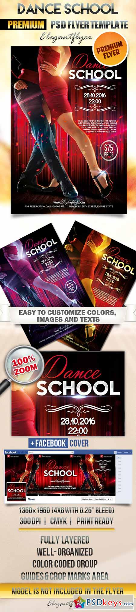 dance school flyer psd template facebook cover dance school flyer psd template facebook cover