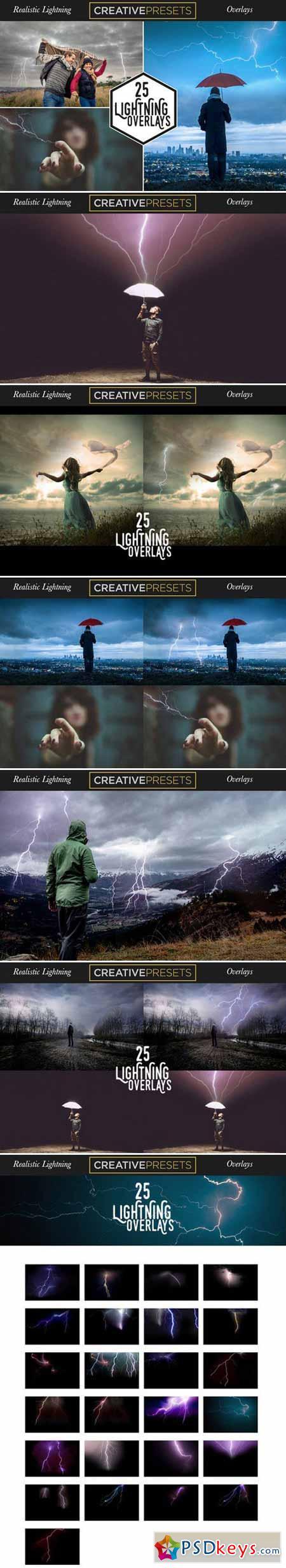 25 Realistic Lightning Overlays 398026