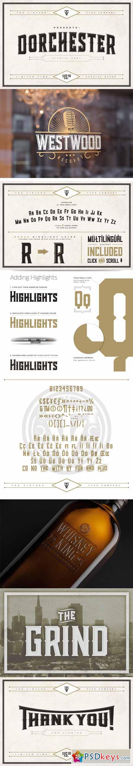 Dorchester Display Font (SALE) 367296