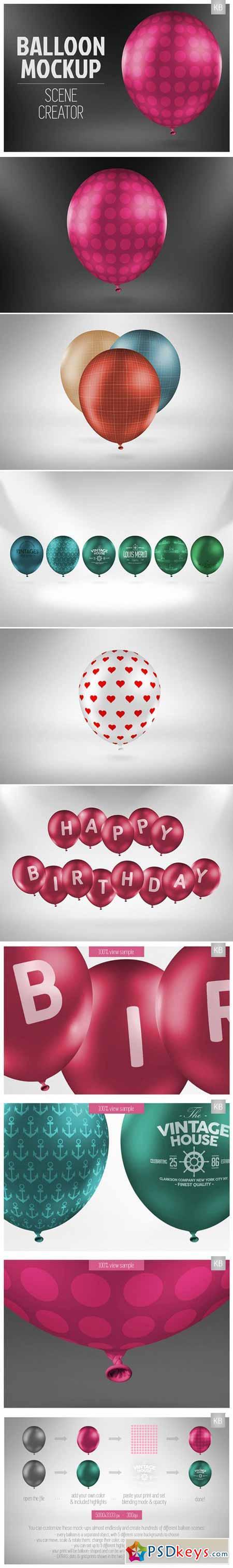 Balloon Mock-up Scene Creator 400449