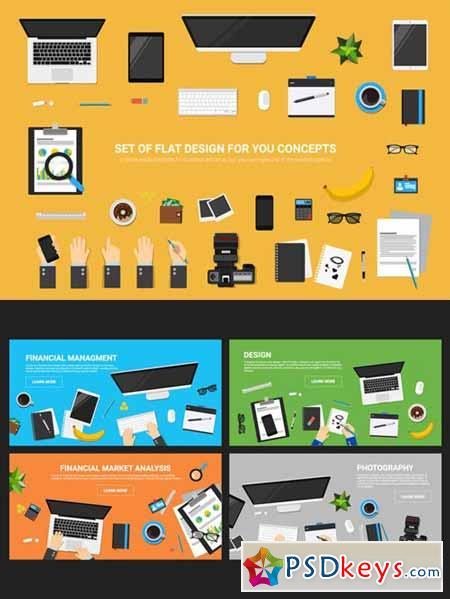 Set flat vector for you concepts 397260