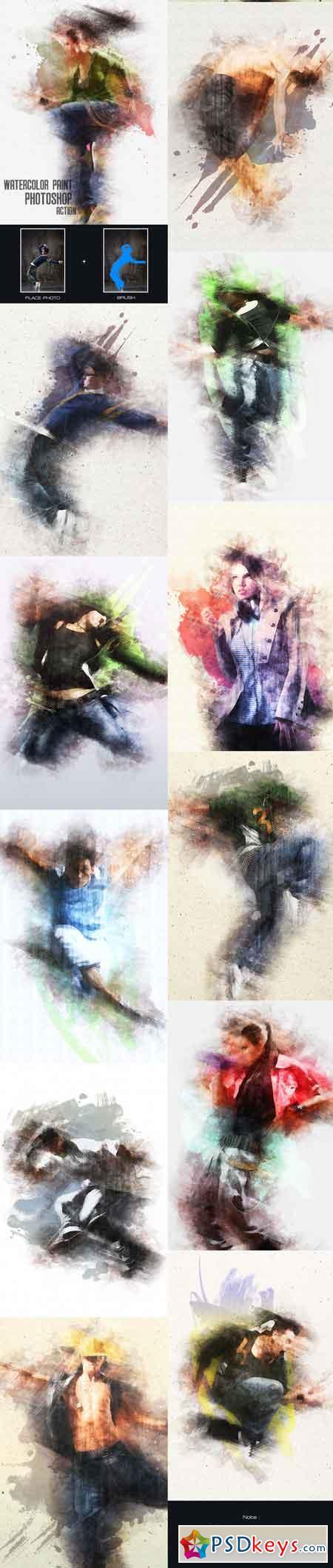 Watercolor Paint - Photoshop Action 13286321