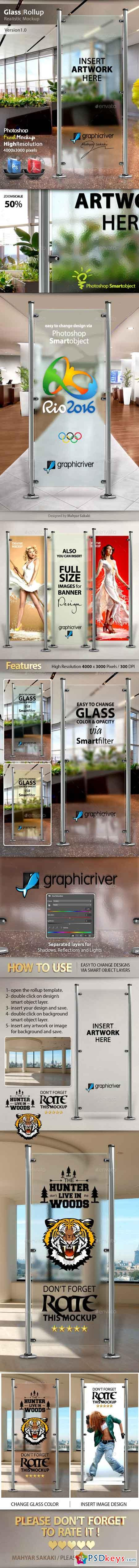 Glass Banner Rollup Mockup 13281293