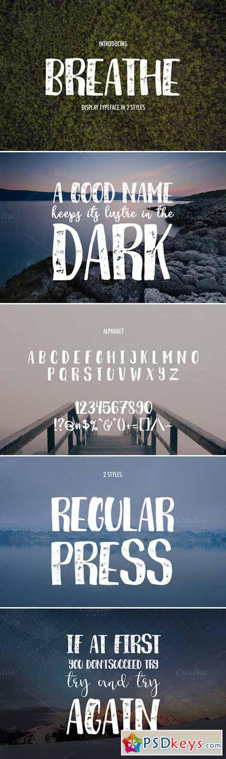 Breathe Display Fonts 404446
