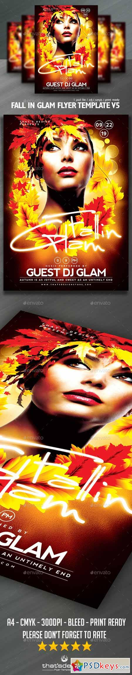 Fall in Glam Flyer Template V5 12991766