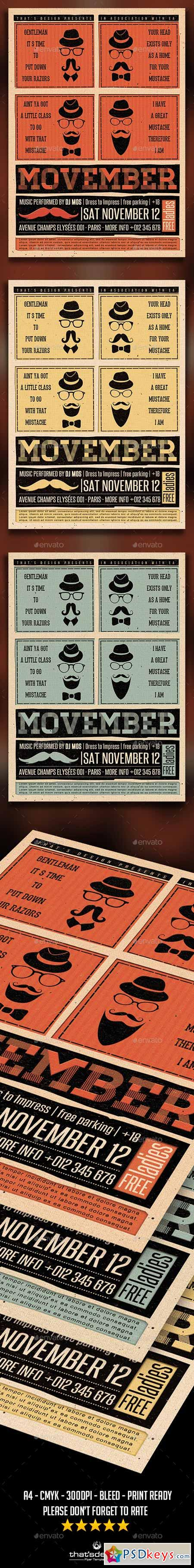 Movember Flyer Template 9368834