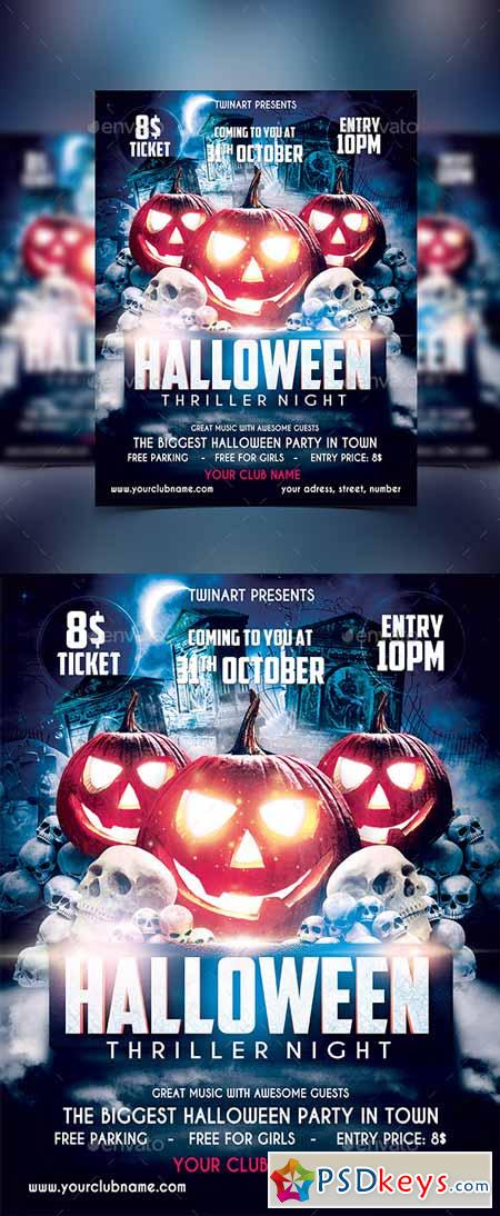 Halloween Party Flyer 13220615