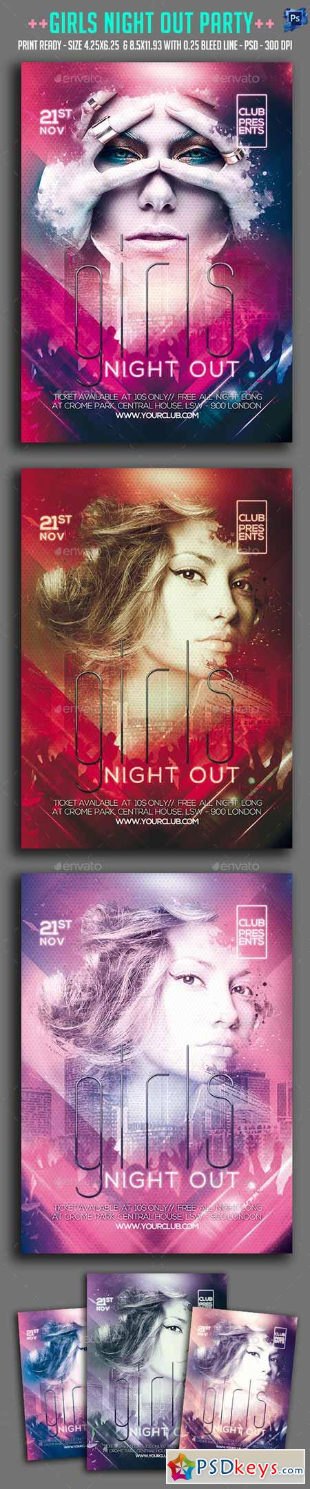 Girls Night Out Party Flyer 13220670