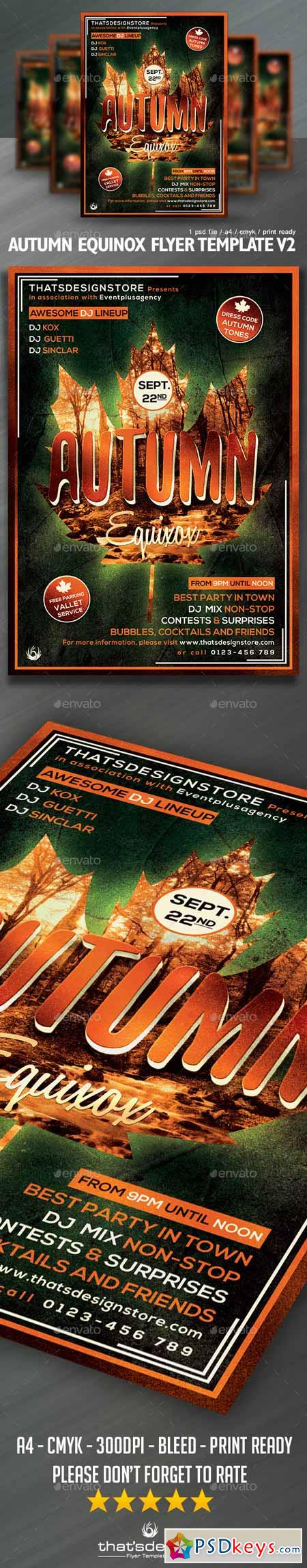 Autumn Equinox Flyer Template V2 12805061