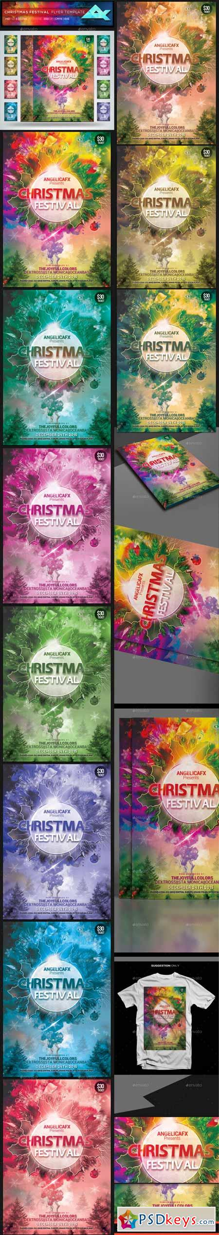 Christmas Festival Flyer Template 13239749