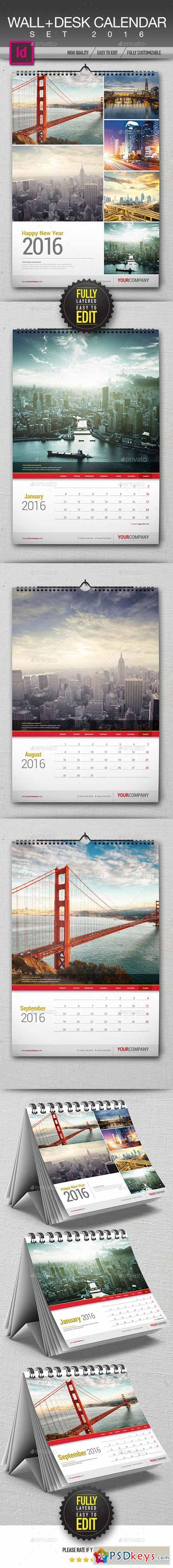 Wall + Desk Calendar 2016 13236673