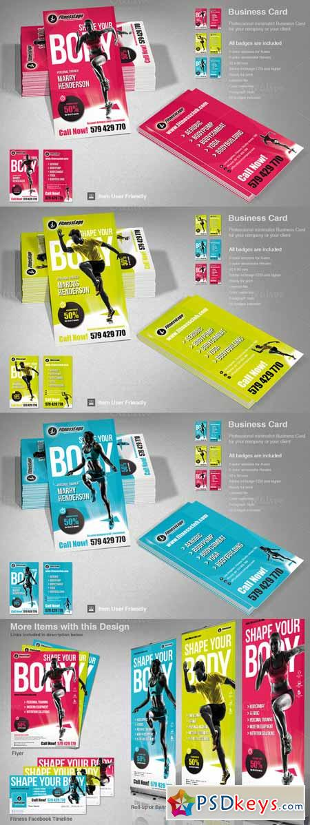 Fitness Business Card 405288