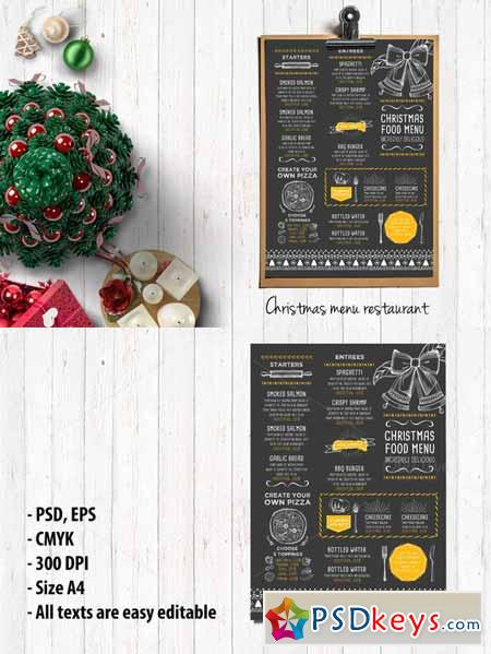Food menu, restaurant flyer #19 405561