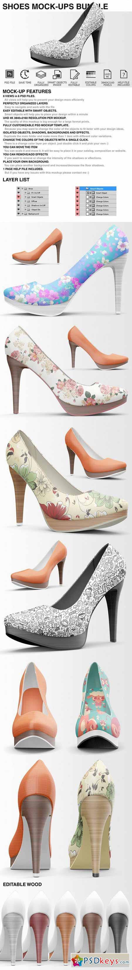 High Heels Shoes Mockup Bundle 401875