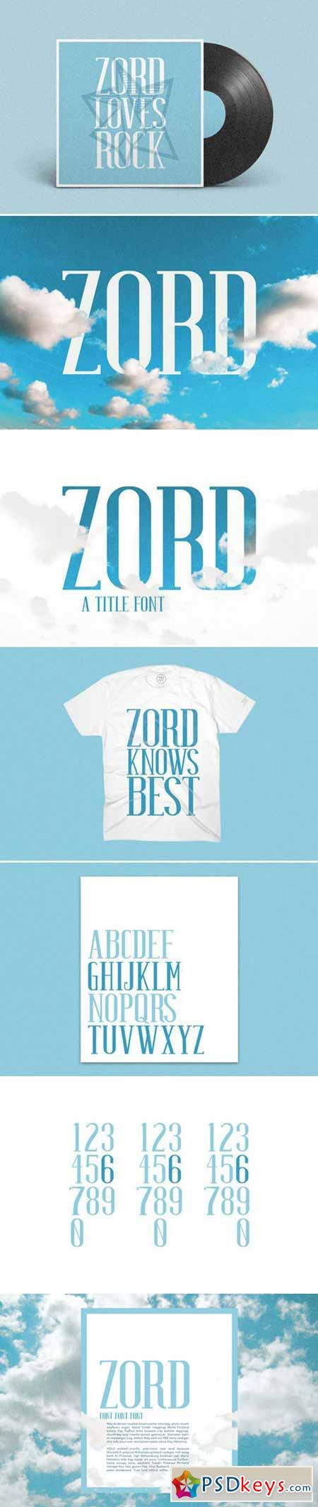 ZORD, Display Font 404934