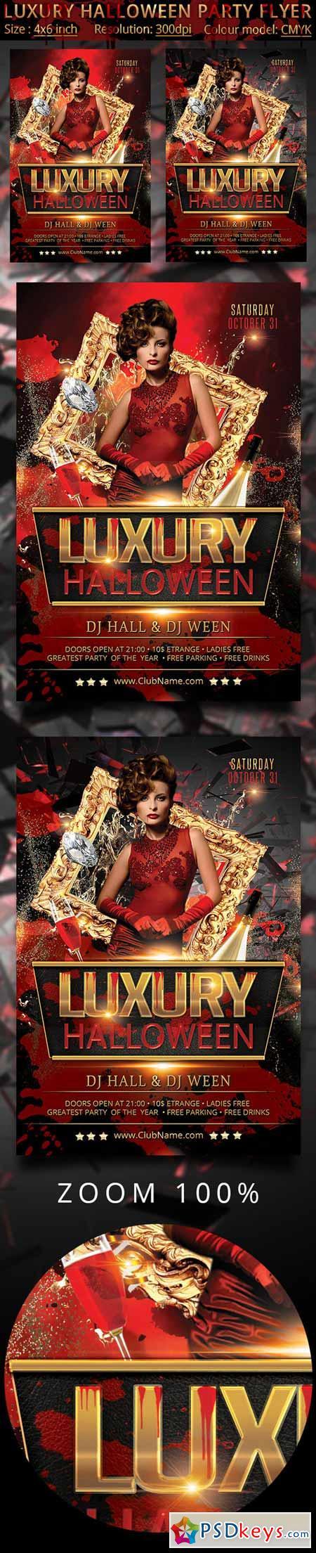 Luxury Halloween Party Flyer 405454