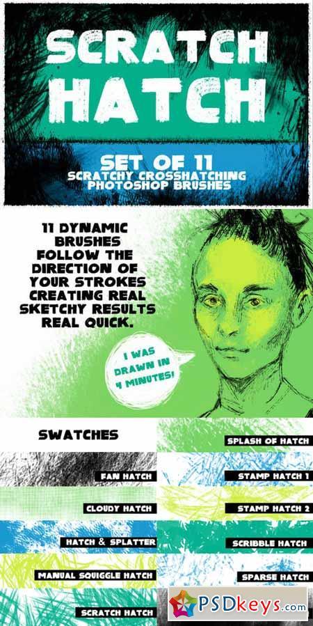 Scratch Hatch Photoshop Brushes 400535