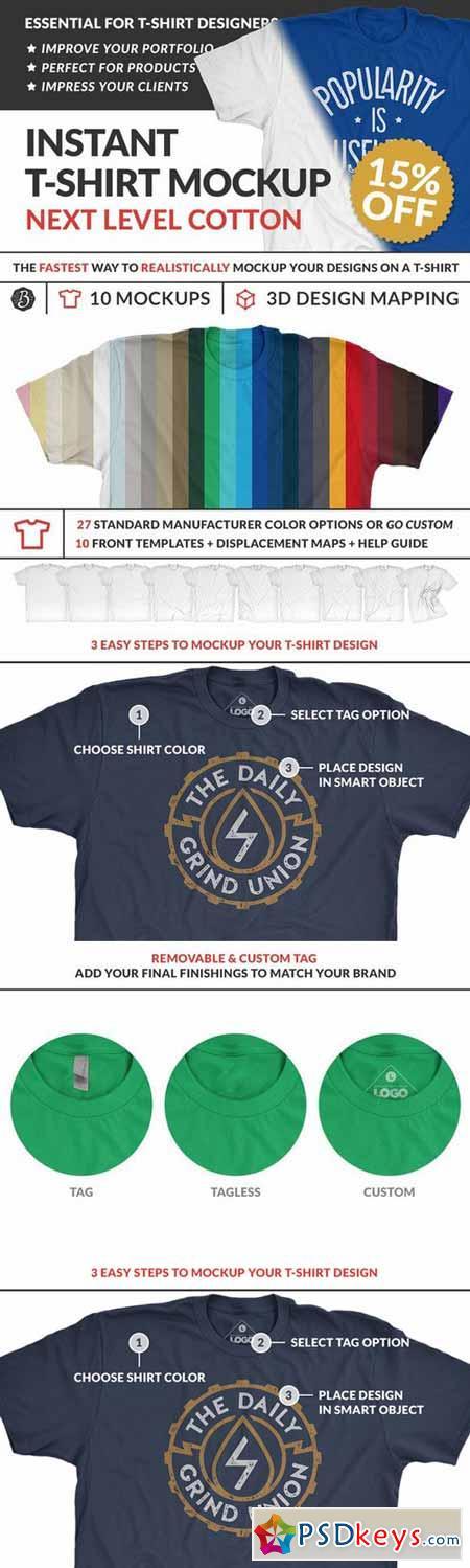Instant Cotton T-Shirt Mockups 404500